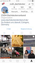 Dachdecker auf Instagram
