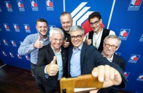 Teilnehmer der Pressekonferenz