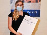 Janina Kitchen, Prüfungsbeste des BBZ Meistervorbereitungskurses 2020/2021